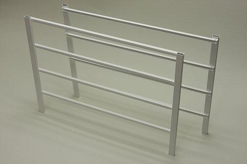 Боковина стеллажа на 4 рельса, выс. 44см, гл. 54см, белая