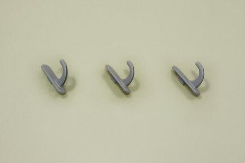 Крючок круглый 3 шт/уп, платина