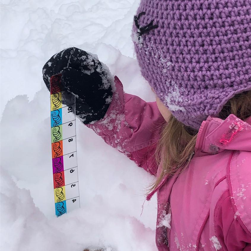 measuring in snow