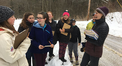 students in snow valley quest
