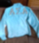 sorority letters jacket