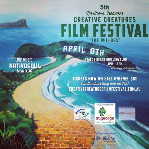 THIS APRIL 8TH WE'RE PLAYING AT THE NORTHERN BEACHES CREATIVE CREATURES FILM FESTIVAL!