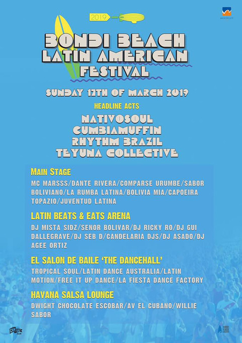 NEXT GIG MAR 17TH @ BONDI LATIN FEST