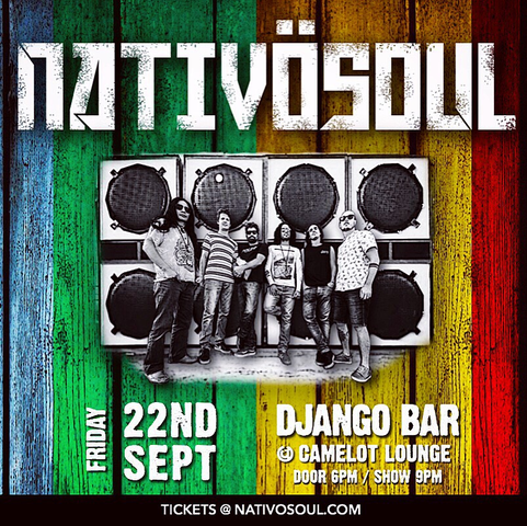Next GIG 22nd September 2017 @Django Bar