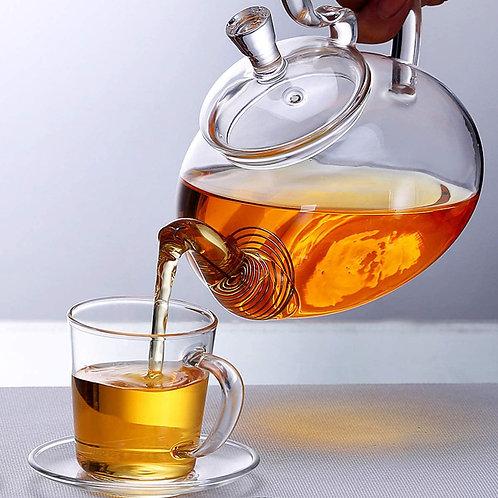 Chaleira de vidro de 600 ml