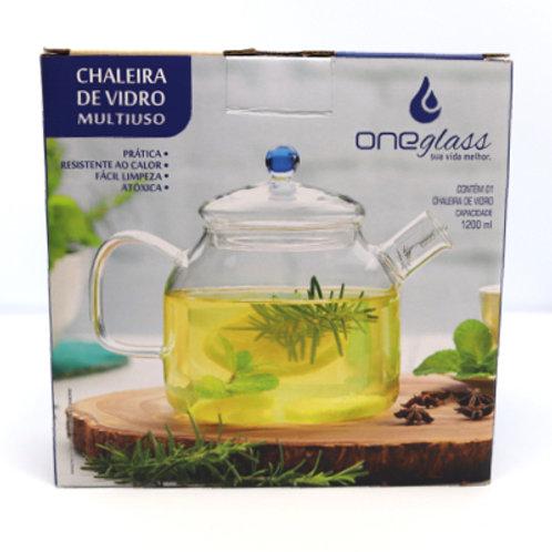 Chaleira de vidro 1200ml Oneglass
