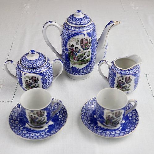 Conjunto Azul Vintage Japonês