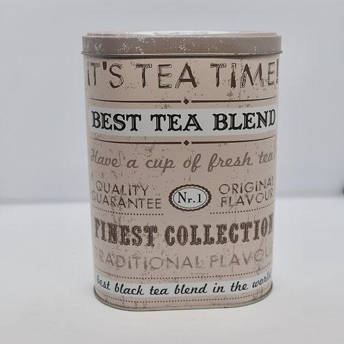 Lata para armazenagem de chá - arredondada