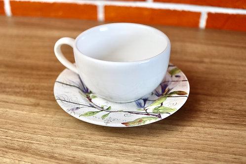 Conjunto 6 Xícaras de Chá com Pires - Alleanza