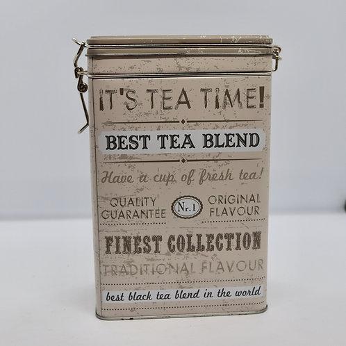 Lata para armazenagem de chá - retangular