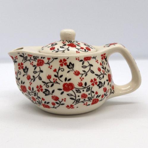 Bule mini com Infusor em porcelana.