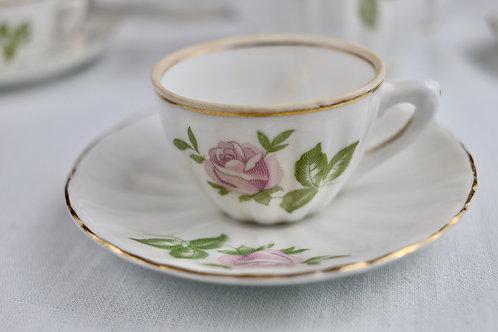 Conjunto de Café em Porcelana branca dos anos 40 Vintage