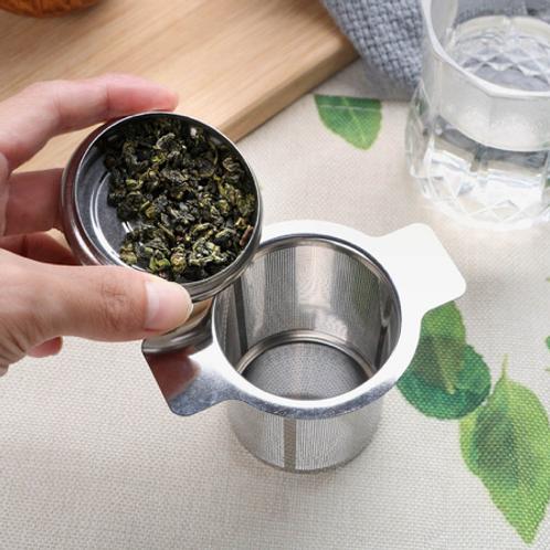 Infusor de Chá com tampa de açoinoxidável