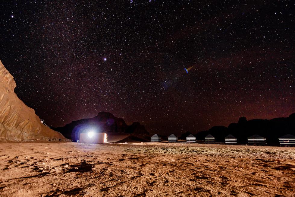 Nigth sky in camp
