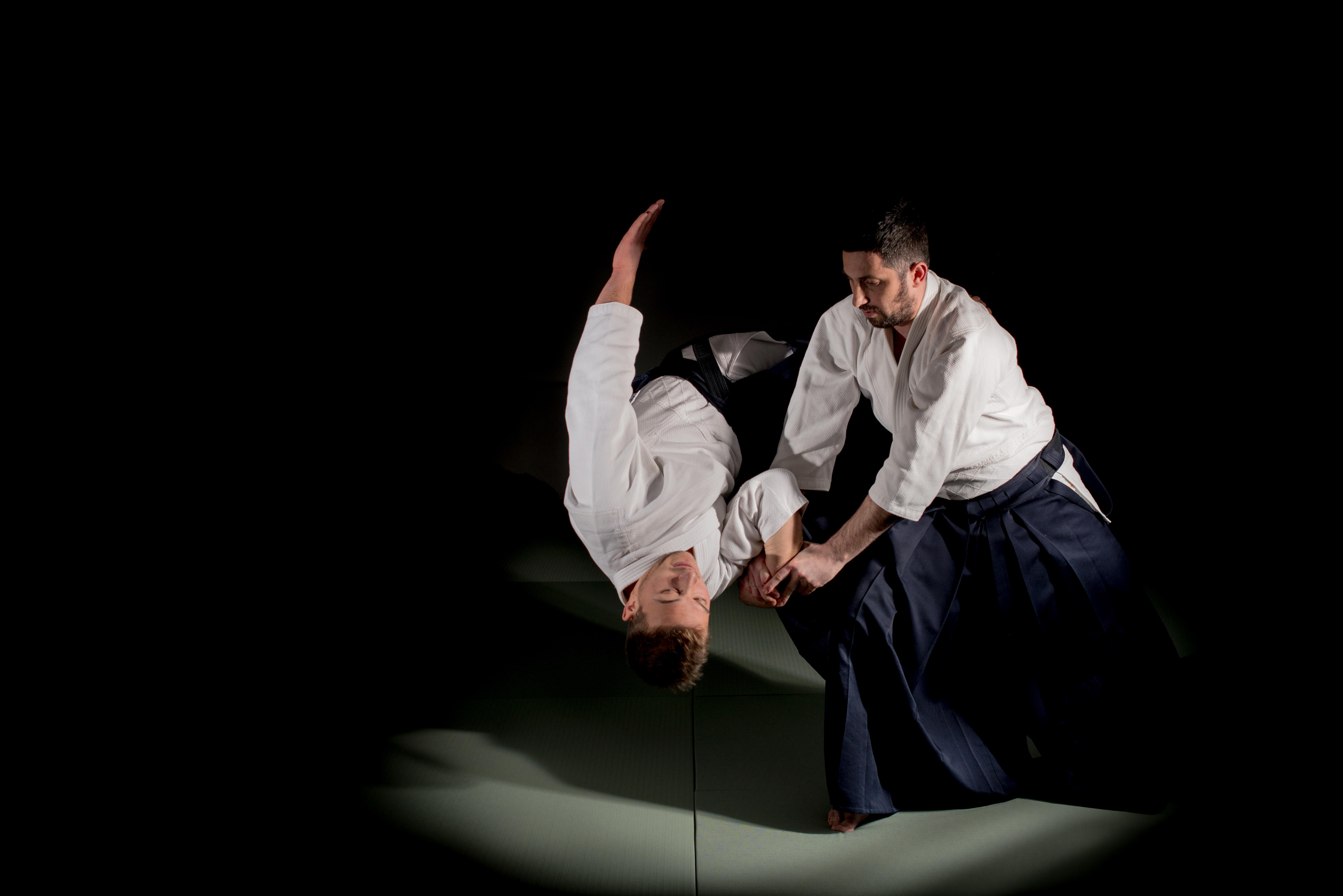 Тренировки по айкидо - шихонаге