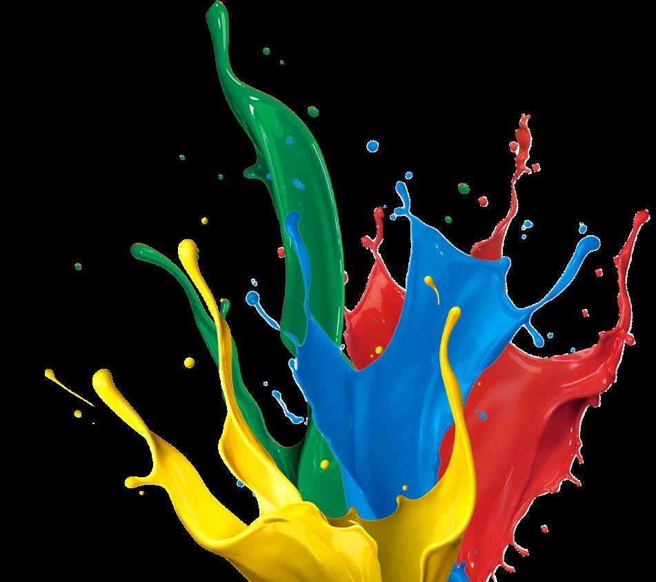 Burst of paint buckets