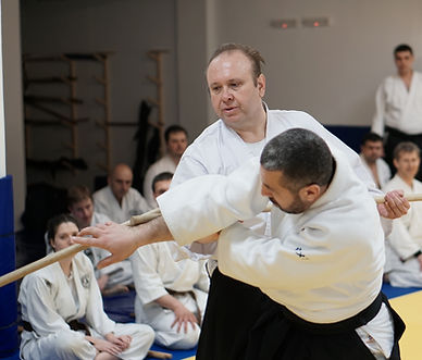 Nikolay Petkov Sensei 5-th Dan, during a seminarin Sofia
