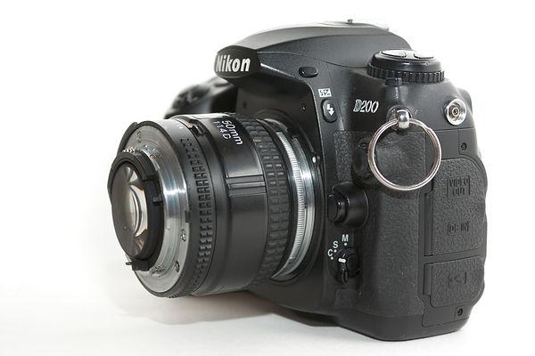 DSLR with reversed lens