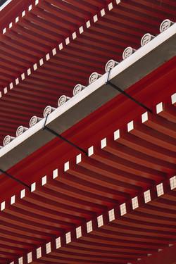 Senso-ji Diagonals - Red Series Japan