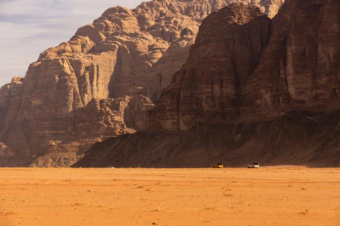 Racing through desert
