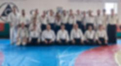Nikolay Petkov Sensei 5-th Dan, with Hiroaki Kobayashi 7-th Dan and participants in Dan exam