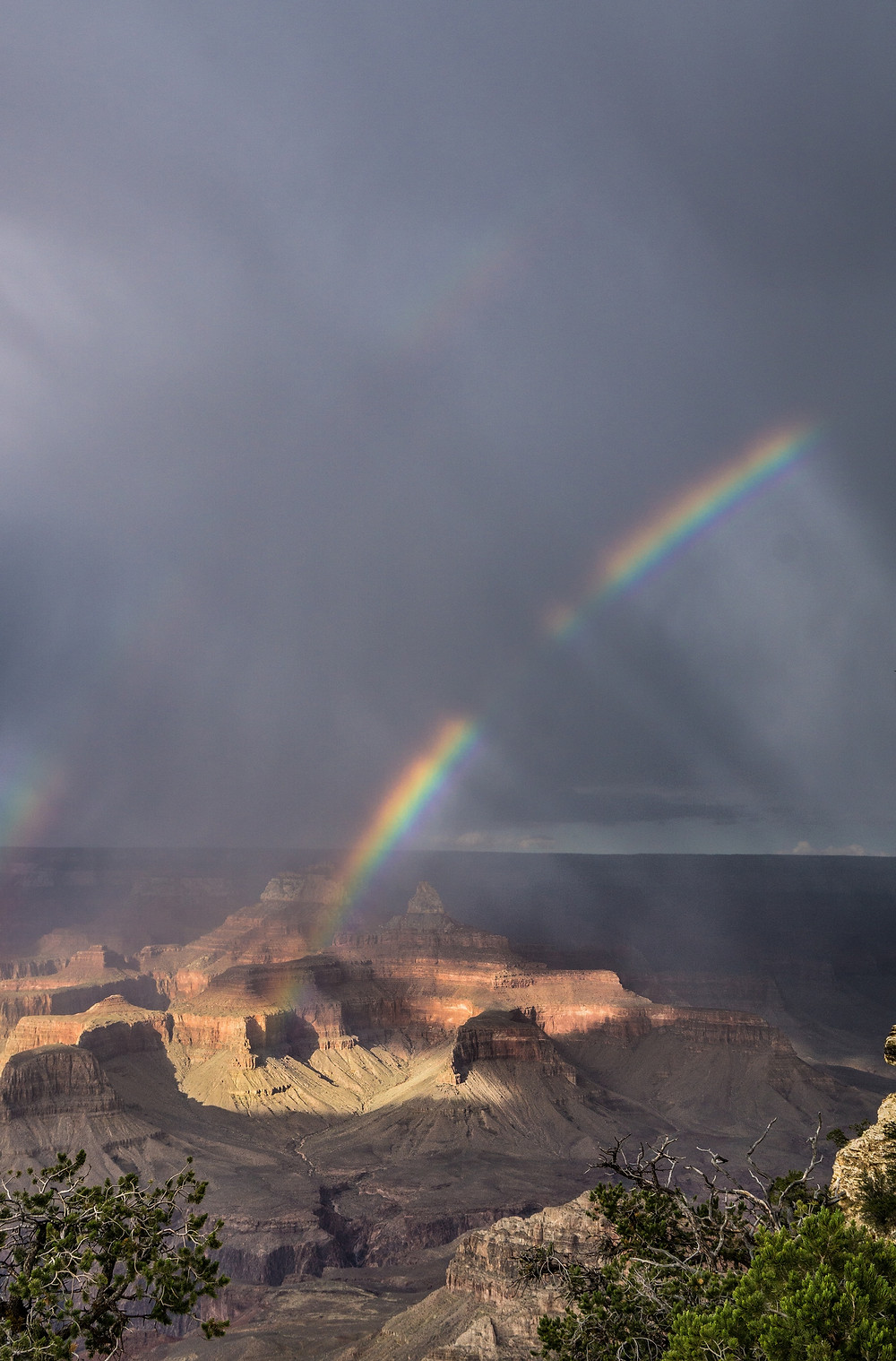 Double Rainbow over Grand Canyon
