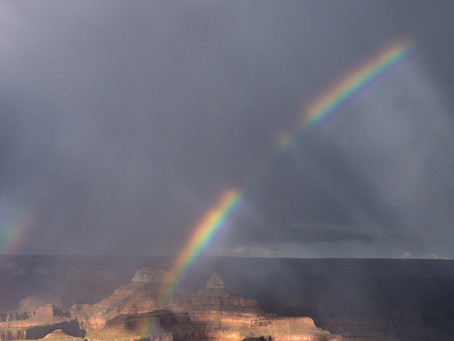 Double rainbows in the Canyon