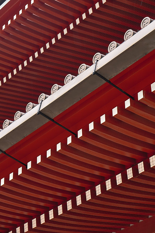 Senso-ji Diagonals -Red series Japan