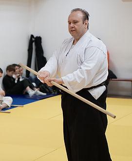 Nikolay Petkov Sensei 5-th Dan, during a seminar in Sofia