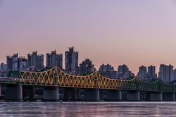 Seoul Han river rail bridge