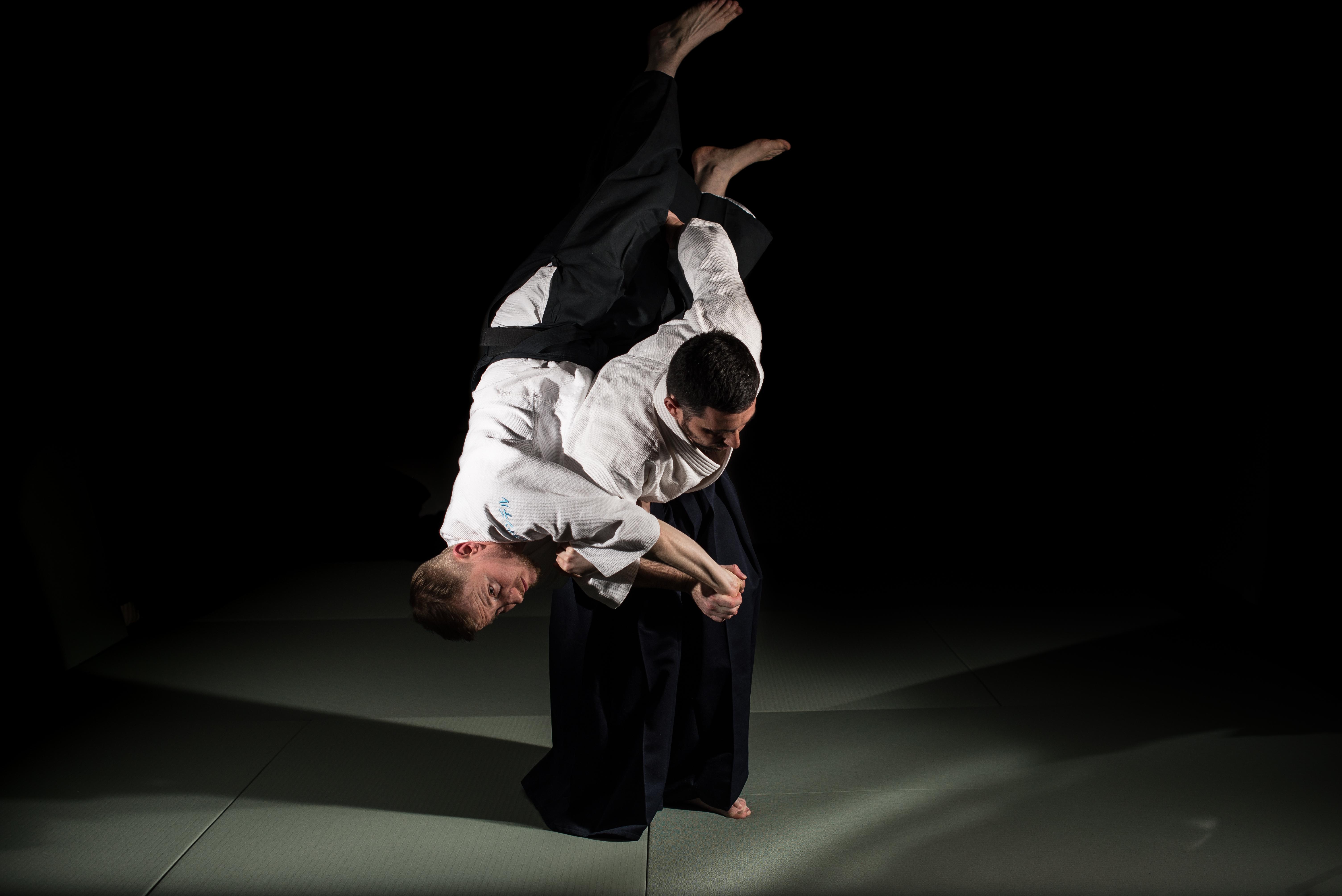 Тренировки по айкидо - кошинаге
