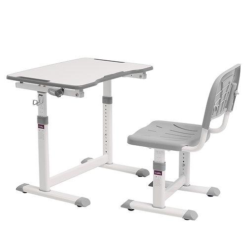 Olea Grey - Biurko z krzesełkiem dla dzieci