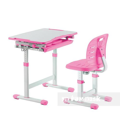 Piccolino III Pink - zestaw biurko z krzesełkiem dla dzieci
