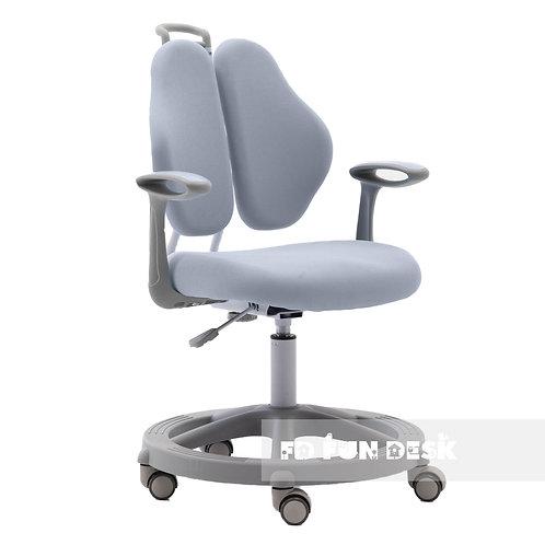 Vetta II Grey - Krzesełko z regulacją wysokości oraz podłokietnikami
