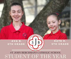 Congratulations To SJB Students of the Year