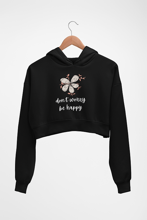 Don't worry, be happy cropped sweatshirt