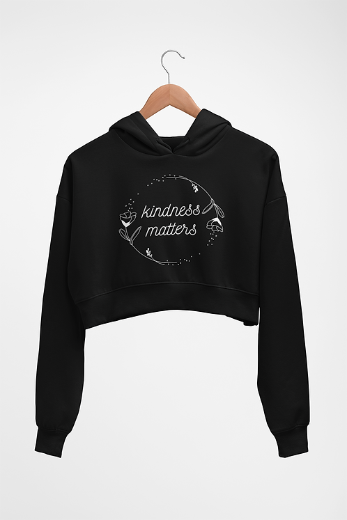 Kindness matters cropped sweatshirt