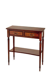 A702 2 DRAWER HALL TABLE WITH SHELF H76C