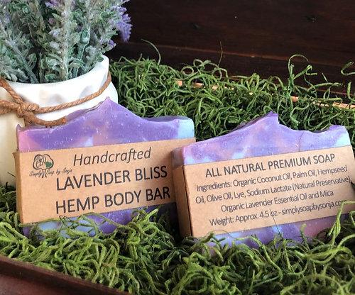 Lavender Bliss Hemp Body Bar
