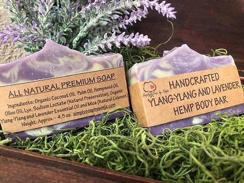 Ylang-Ylang and Lavender Hemp Body Bar