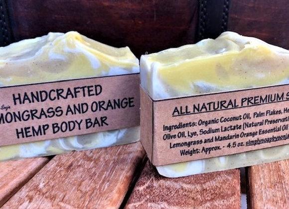 Lemongrass and Mandarin Orange Hemp Body Bar