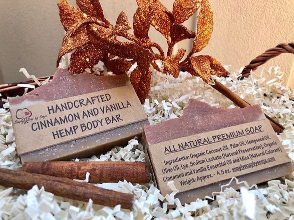 Premium Cinnamon and vanilla hemp soap bars