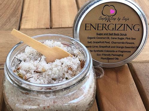 Organic Energizing Sugar and Salt Body Scrub