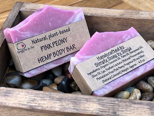 Pink Peony Hemp Body Bar