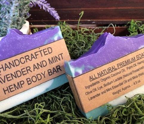 Lavender and Mint Hemp Body Bar