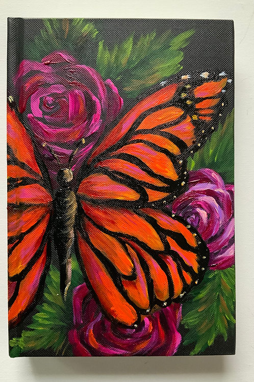 Large Butterfly and Roses Journal