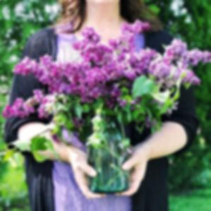 Creative lifestyle, lilacs, bouquet