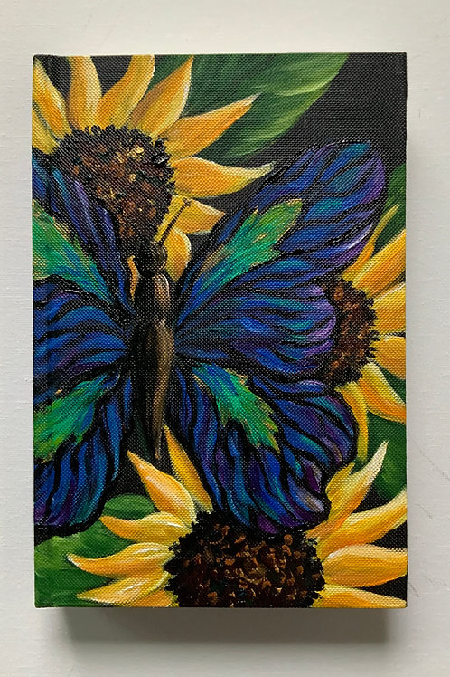 Large Butterfly and Sunflowers Journal