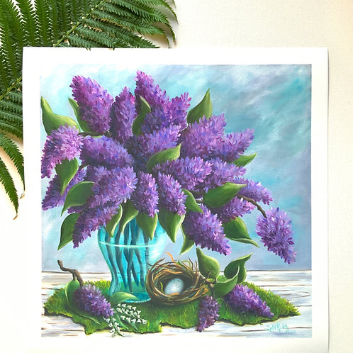 Print: The Smell of Lilacs and Lily of the Valley