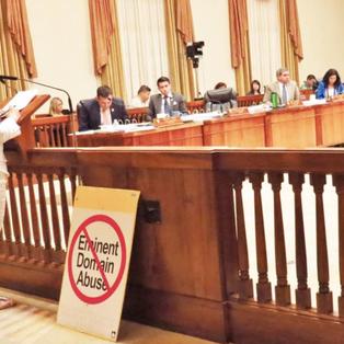Choon testifying at City Hall